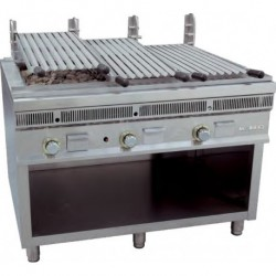 Parrilla de carbón volcánico a gas 800x900x850 mm 22 Kw MAINHO