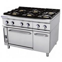 Cocina modular a gas Fuegos: 3 - 6.50(Kw) . 3 - 8(Kw) . quemador horno 1 - 7.50(Kw) 1205x750x900 mm Repagas