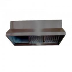 Campana acero inoxidable y chapa galvanizada + 6 filtros+turbina 10/10 3/4 CV   3000x700x750