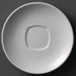 Plato cuadrado de bordes redondeados 200 mm Color Blanco
