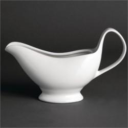 Salsera con asa  340 ml Color Blanco