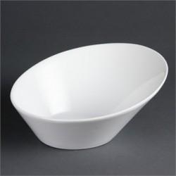 Cuenco oval inclinado 254x228 mm Color Blanco