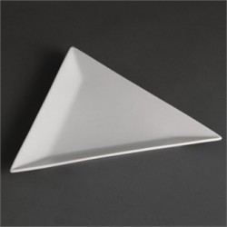 Plato triangular 254 mm Color Blanco