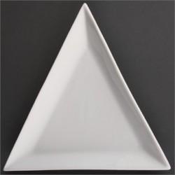 Plato triangular 178 mm Color Blanco