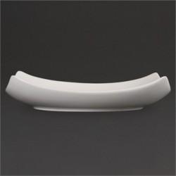 Plato cuadrado redondeado hondo 205 mm Color Blanco