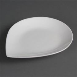 Plato forma de lágrima 255x207 mm Color Blanco