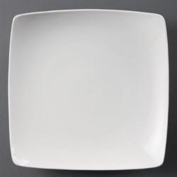 Plato cuadrado redondeado hondo 250 mm Color Blanco