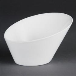 Cuenco oval inclinado 335 ml Color Blanco