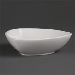 Cuenco triangular redondeado 200 mm Color Blanco