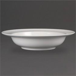 Plato hondo de borde ancho 228 mm Color Blanco