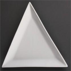 Plato triangular 292 mm Color Blanco