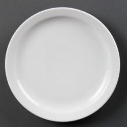 Plato llano de borde estrecho 254 mm Color Blanco