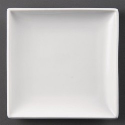 Plato cuadrado 178 mm Color Blanco