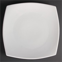 Plato cuadrado redondeado 305 mm Color Blanco