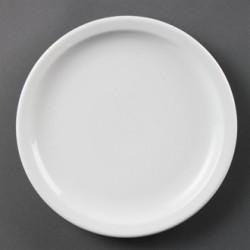 Plato llano de borde estrecho 229 mm Color Blanco