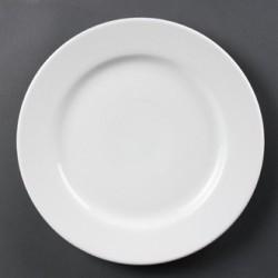 Plato llano de borde ancho 305 mm Color Blanco