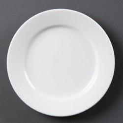 Plato llano de borde ancho 165 mm Color Blanco
