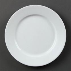 Plato llano de borde ancho 203 mm Color Blanco