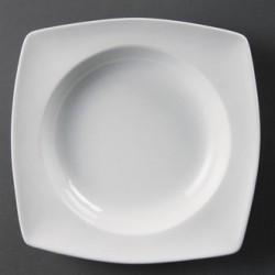 Cuenco cuadrado redondeado 210 mm Color Blanco