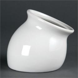 Recipiente de boca inclinada 110x130x86 mm Color Blanco