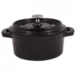 Cacerola en miniatura de hierro fundido negro redonda