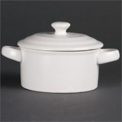 Cazuela en miniatura blanca